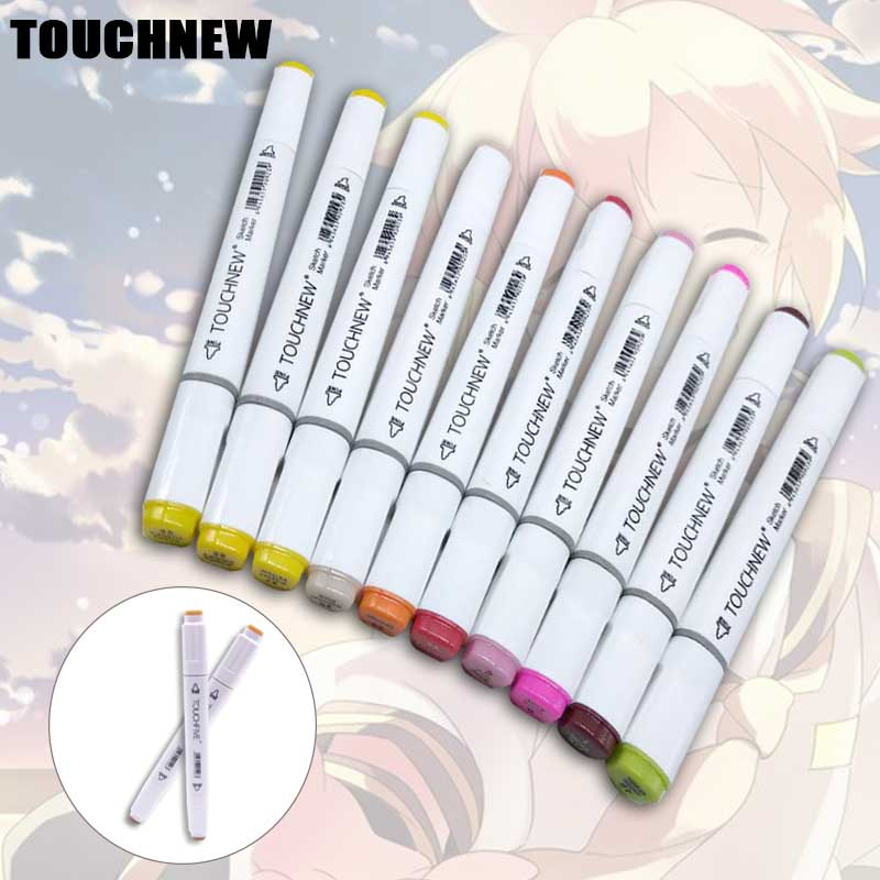 TOUCHNEW 60 colors Anime markers Set Art marker pen Sketch markers Professional for liner drawing paint marker touchnew 60 colors artist dual head sketch markers for manga marker school drawing marker pen design supplies 5type
