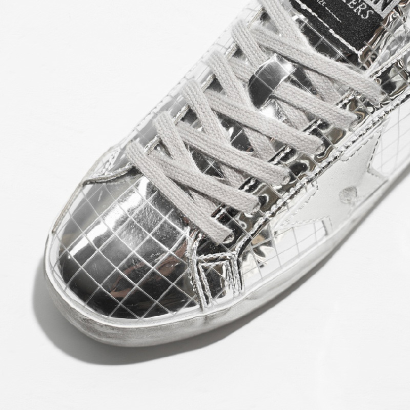2019 New Women Casual Shoes Glitter Leather Do Old Dirty Shoes Golden  Silver Color Shoes Sequins Star Goose Retro Sneakers-in Women s Flats from Shoes  on ... 702179da5cc1
