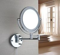 High Quality 5 Times Chrome Plating Magnifying Mirror Brass Material Double Faced Make Up Mirror With