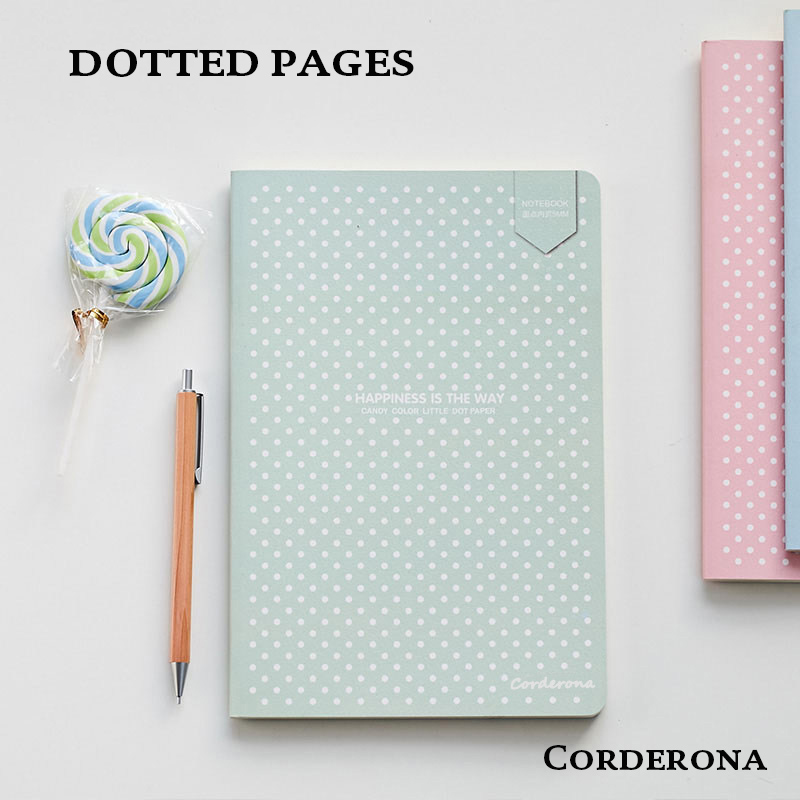 Dot Grid Bullet JournalNotebook Stationery Book Soft Cover Dotted Bujo