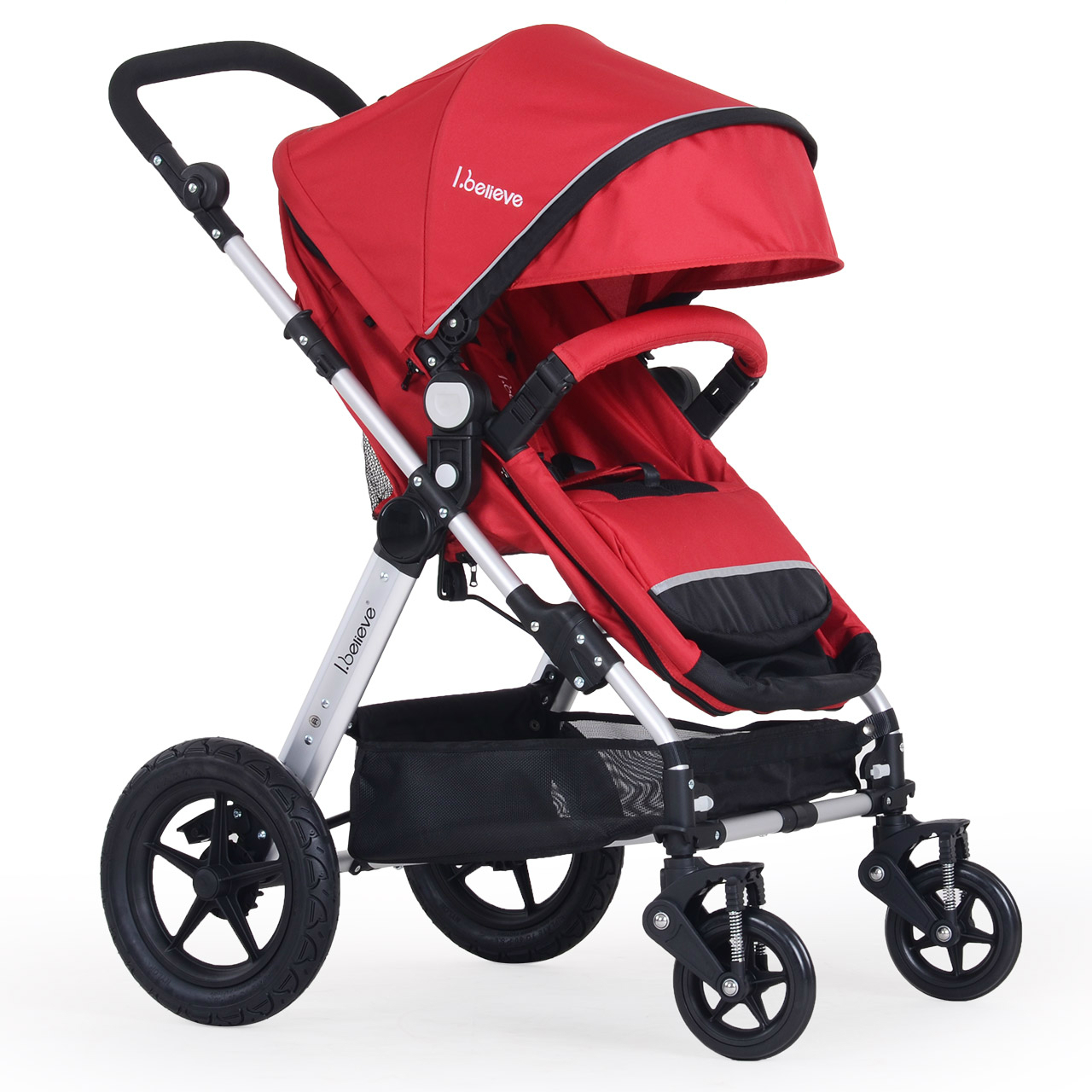 Hot sale high quality baby stroller high landscape shockproof baby trolley portable folding baby cart 3 in 1 baby carriages twin stroller high landscape can lay the portable folding baby cart