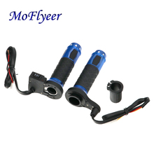 MoFlyeer Motorcycle 12V Electric Heated Grips Motorbike Hot Grip ATV Scooter 22mm 7/8