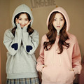 2017 harajuku hoodies korean hooded tracksuit women sweatshirt women spring kawaii love hoodies women suit set sweatshirts