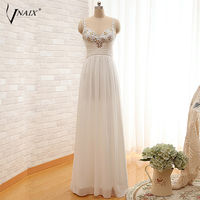 Vnaix W146 Beach Wedding Dress Beaded Spaghetti Straps Long A Line Floor Length