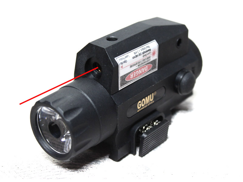 2015 GOMU 2 in1 tactical flashlight and red laser light rail system 20 mm Sight