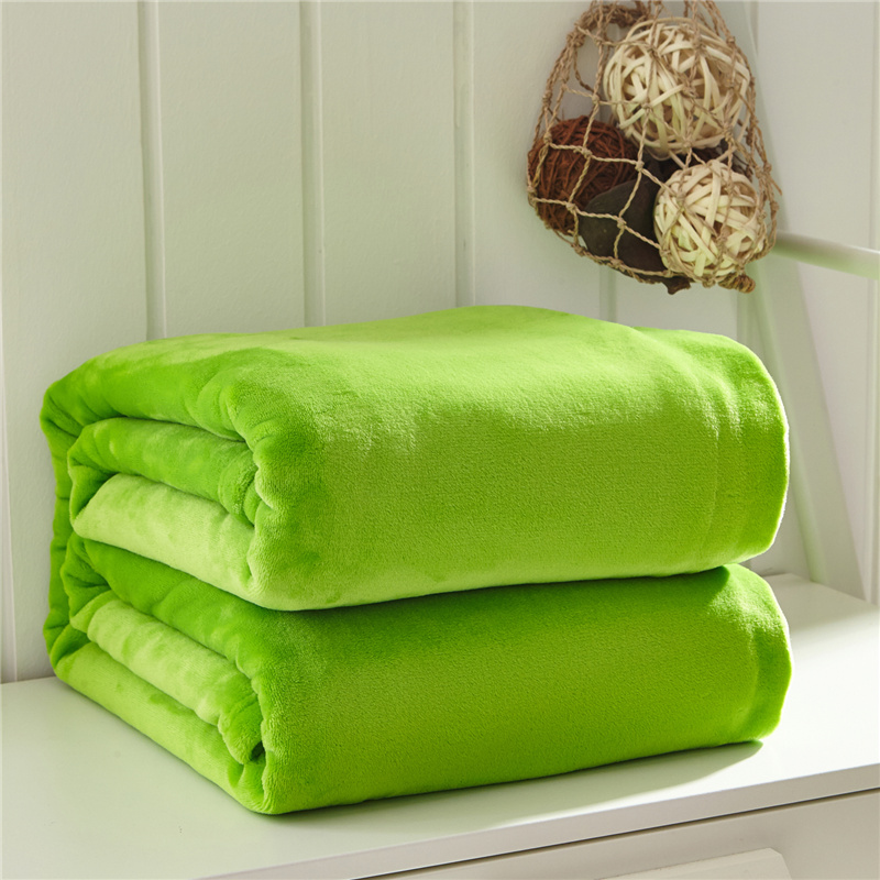 100 Polyester Printed Solid And Soft Coral Velvet Fleece Blanket