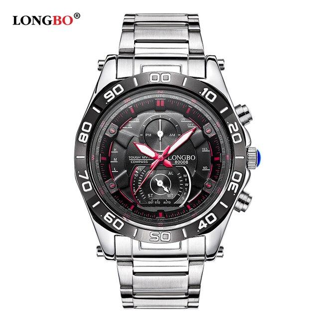 df4144d96f4 LONGBO Mens Watches Top Brand Luxury Quartz Watch Clock Stainless Steel Watch  Fashion Casual Men Military Wrist Watch Relogio