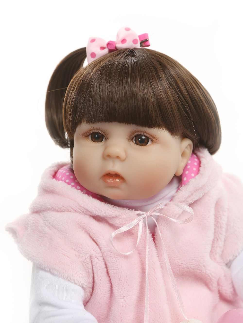 48 см полное тело силикона reborn baby девочка принцесса игрушка Водонепроницаемая Ванна игрушка Реалистичная кукла-младенец мягкий настоящий сенсорный Рождественский подарок
