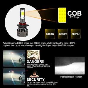 Image 3 - Roadsun luces LED para faro delantero de coche, Chips COB, tamaño Mini, H11, H1, 9005, HB3, 9006, HB4, 10000LM, 60W, 6000K, Estilismo, 12V