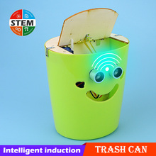 DIY Electric Toys For Children Intelligent Sensor Trash Can Toys Physics Science Experiment Teaching Aids STEM Educational Toys