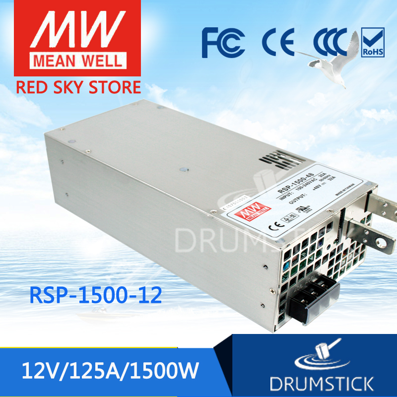 (12.12)MEAN WELL RSP-1500-12 12V 125A meanwell RSP-1500 12V 1500W Single Output Power Supply selling hot mean well rsp 1500 5 5v 240a meanwell rsp 1500 5v 1200w single output power supply