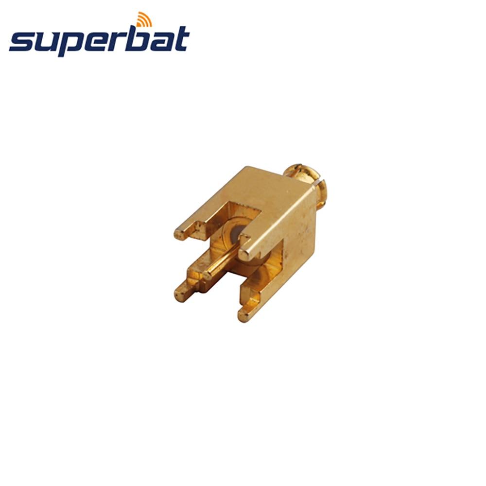 Superbat MCX через отверстие разъем наружный разъем крепление с припоем пост позолоченный прямой