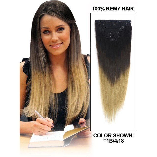 Outlet Fashion Clips In Extensionshighlights 3 Tone Ombre Silky