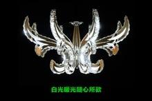Dimmer Remote Control  LED 30W K9 Crystal Chandelier Lihting Transparent 110-240v Size:68*68*78cm