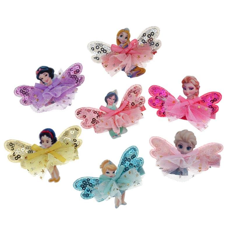New Fashion Cartoon Wings Mini Skirt Kids Hairpins Baby Hair Clips Princess Barrette Children   Headwear   Girls Hair Accessories