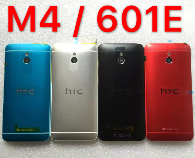 For new HTC one mini M4 shell 601e following from 601s full body shell 601 rear cover battery cover the power button and volum