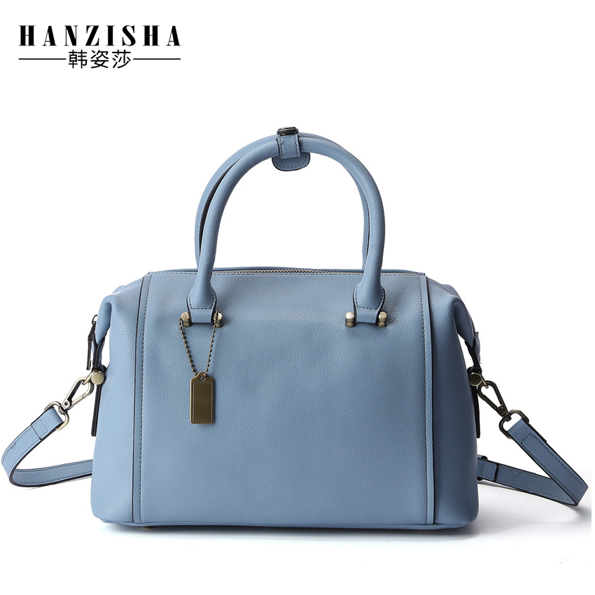 New Brand Genuine Leather Women Boston Bag Fashion Embossing Leather Women Shoulder Bag Classic Women Handbag Bag sac a main