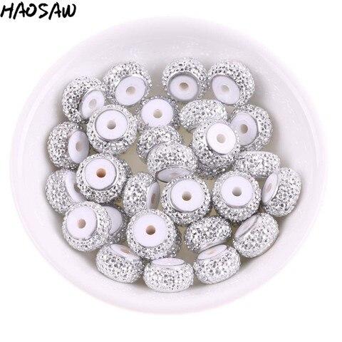 Beads para Faça Lote Milímetros Ródio Contas Redondas Planas Tabular Roda Transporte Handmade Rhinestone Você Mesmo Jóias Acessórios Achados 200 Pçs – 7*12