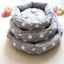 Кровать для домашних животных, мягкая флисовая, для домашних животных, собак, щенков, кошек, теплая кровать, домик, плюшевое уютное гнездо, коврик с цветочным принтом, кровать