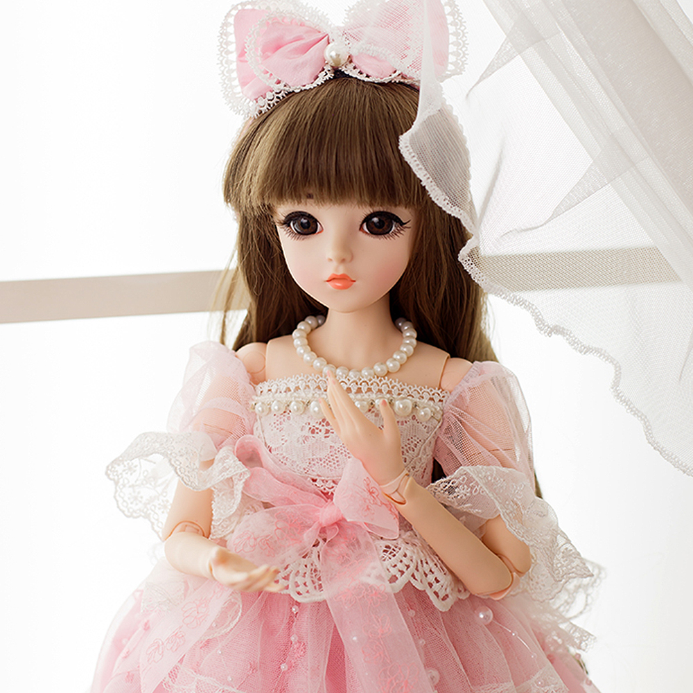 1/3 BJD Doll 18 Jointed Body With Shoes Wigs Makeup Party Dress SD Dolls Toys for Girls Best Gift Collection