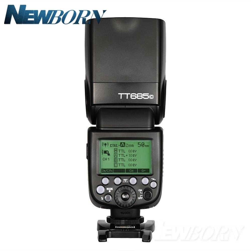 Godox TT685C TTL Cámara Flash 2,4 GHz Alta Velocidad 1/8000s GN60 + Xpro-C TTL transmisor inalámbrico para cámara Canon Eos + regalo - 2