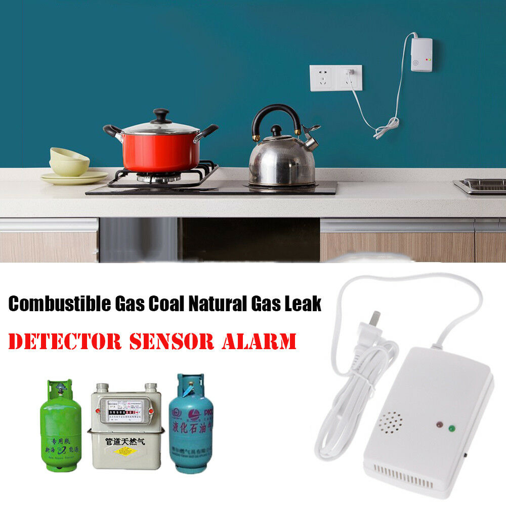 Gas Leak Detector 85db Natural Gas Leak Alarm Warning Sensor Detector Home Security Tool with Indicator Light
