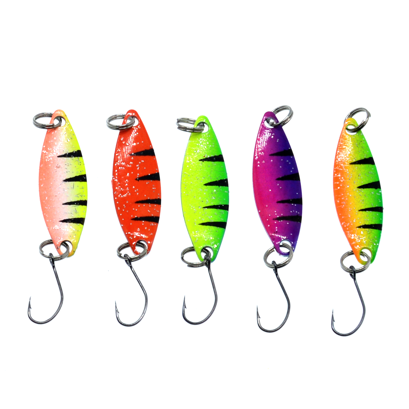 WLDSLURE  5Pcs/lot Fishing Lure Colorful Spoon Bait 2g Metal Spoon Fishing Lure For Trout Single Hook-in Fishing Lures from Sports & Entertainment