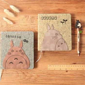 Аниме блокнот Тоторо деревянная обложка с ручкой 18 см