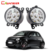 Cawanerl 2 Pieces Car Styling LED Bulb Replacement Fog Light Daytime Running Light White Blue Orange