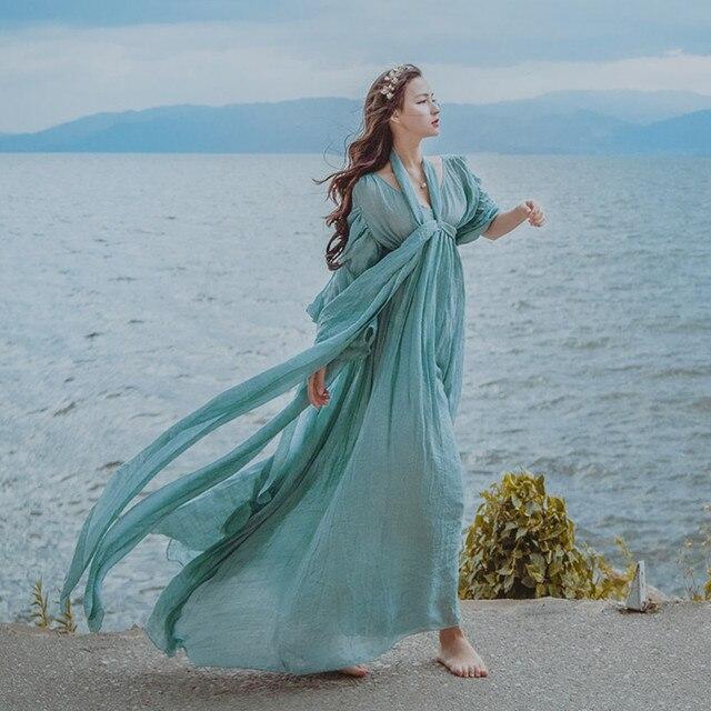 Medieval Renaissance Light Blue And White Gown Dress: Aliexpress.com : Buy Free Ship Light Blue Seashore Photo