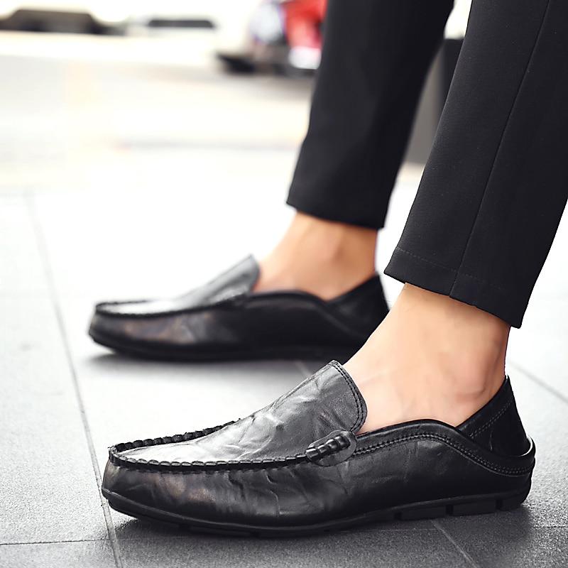 HTB1uKBKLpzqK1RjSZSgq6ApAVXaj Italian Mens Shoes Casual Luxury Brand Summer Men Loafers Genuine Leather Moccasins Light Breathable Slip on Boat Shoes JKPUDUN