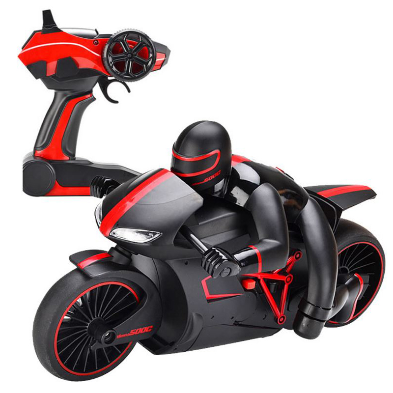 2.4Ghz Speed Remote Control Motorcycle RC Driving Model EU Plug Forward/Blackward/Turn Left Right with Light Motorcycle Models 30a esc welding plug brushless electric speed control 4v 16v voltage