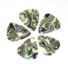 100pcs/lot Abalone Seashell 0.71mm Medium Celluloid Guitar Picks Plectrums for Acoustic Electric Bass
