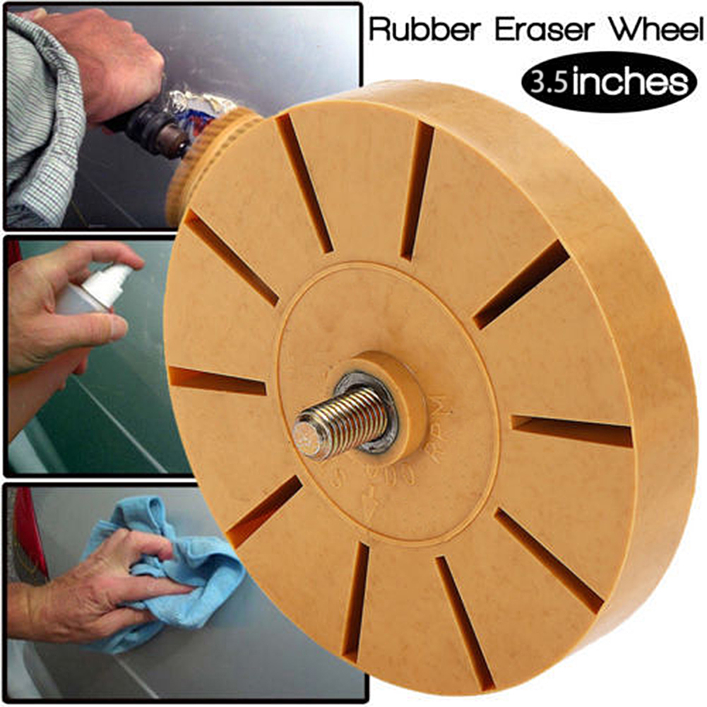 Universal Rubber Eraser Wheel For Remove Car Glue Adhesive Sticker Pinstripe Decal Graphic Auto Repair Paint Tool Hot Sale