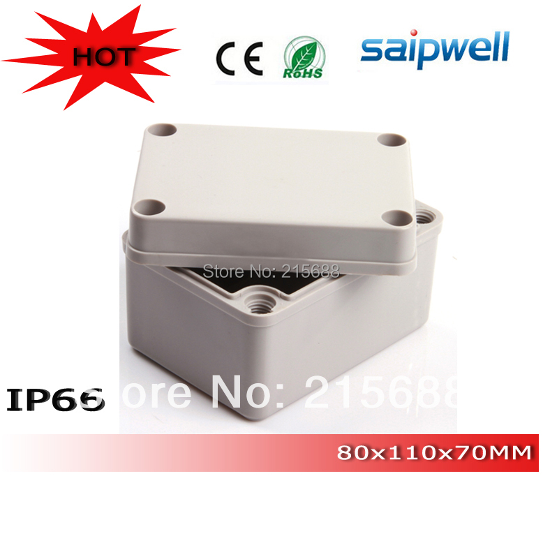 2015 Saipwell Most popular small ip65 waterproof plastic electrical junction boxes 80 110 70mm DS AG