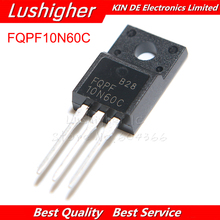 10 adet FQPF10N60C TO 220 10N60 TO220 10N60C 10A 600V MOSFET N kanal