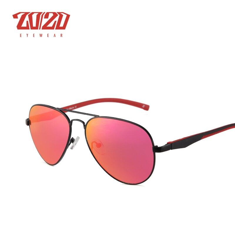 20/20 Brand Classic Sunglasses Men Glasses Driving Colorful Reflective Coating Lens Eyewear Accessories Sun Glasses Oculos JB724