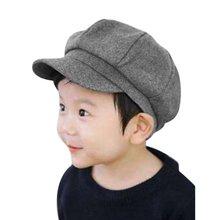 2b970bfd242c2 Niño sombrero lindo para bebé niños niño niña de gorra de boina de cúpula  octogonal sombrero de béisbol gorra ajuste caliente so.