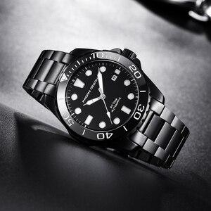 Image 2 - Pagani Mechanical Automatic Mens Watch Sport Black Fashion military waterproof Watch Men steel Male wristwatch Relogio Masculino
