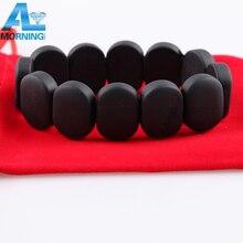 High Energy Byanshi Stone Bianchi needle Stone Quality 100% Natural Black Bianshi Stone Bracelet Health Care Bian Stone Bracelet