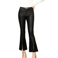 New Women S Leather Pants Korean Slim Was Thin Wild Outside Wear Nine Pants Autumn Winter