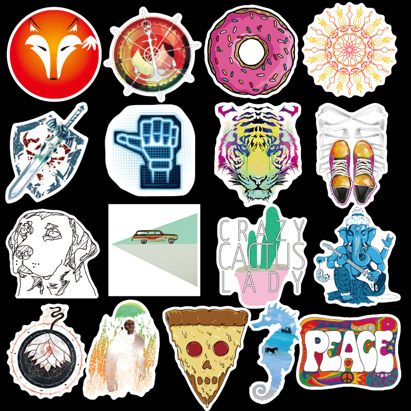 Image 3 - 100PCS Many Styles Waterproof Car Stickers Graffiti JDM Car Modification Sticker for Motorcycle Bicycle Helmet Suitcase Laptop-in Car Stickers from Automobiles & Motorcycles
