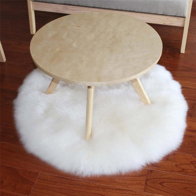 2018 New Soft Artificial Sheepskin Rug Chair Cover Artificial Wool Warm And Cozy Hairy Carpet Seat Pad 07