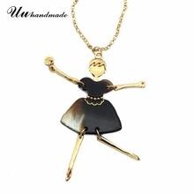 2016 Nueva moda de acrílico de dibujos animados material de collar pendiente de la muchacha de hadas largo colgante de regalos románticos de Navidad