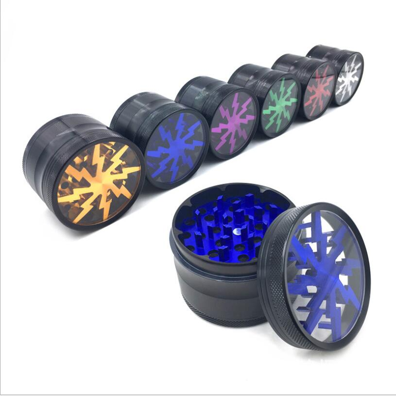 4 Layers Aluminum Alloy Tobacco Herb Grinder Tobacco Weed Leaf Crusher Smoker Grinders Accessories