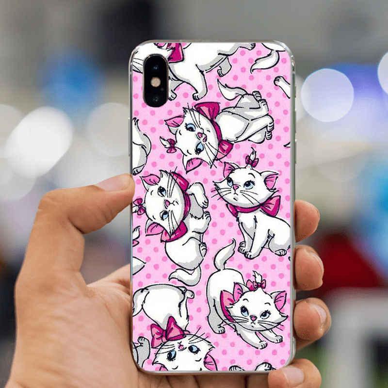 """LISHE kreskówki """"arystokratów"""" Marie koty kot miękkie etui z termoplastycznego poliuretanu Case dla iPhone 11Pro XS Max 8 7 6 5 5S SE 8plus XR 10 Coque Shell"""