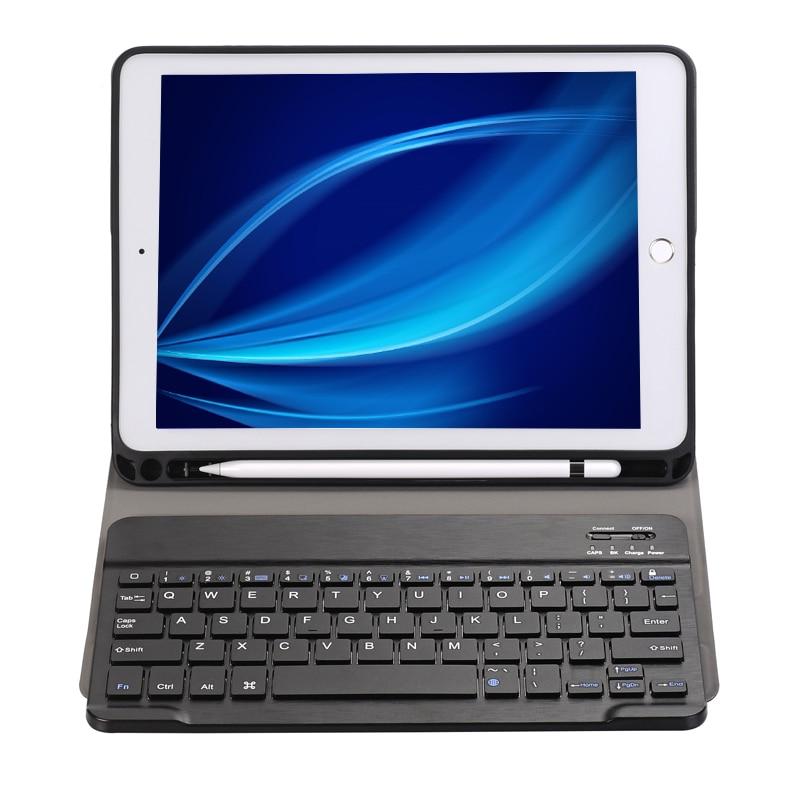 Landas Pour iPad 2018 Avec Porte-Crayon Et Couverture de Clavier Pour iPad 5 6 Pro 9.7 pouce Tablette housse Pour A1822 A1893