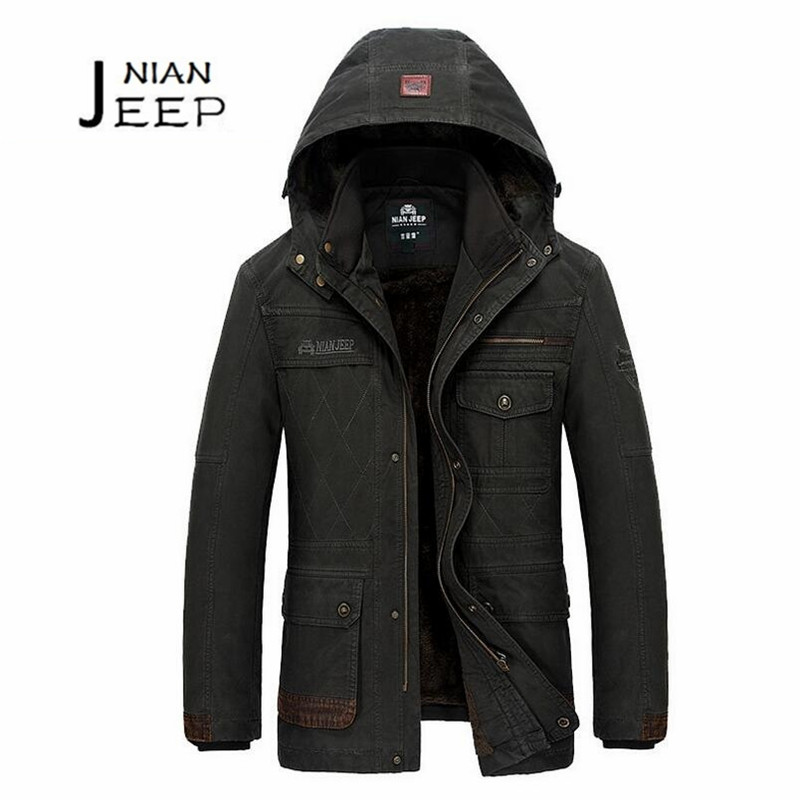 JI PU M to 4XL Mans Winter New Design Slim Thickness Cotton Made Coat,Solid 100% Cotton Cashmere Inner side coat,Hat remove