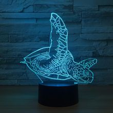 Tortoise 3D Night Light Sea Turtles LED Colorful  Bedroom Bedside Lamp Baby Sleeping Night Lamp USB Strange Lamp For Kids Gift