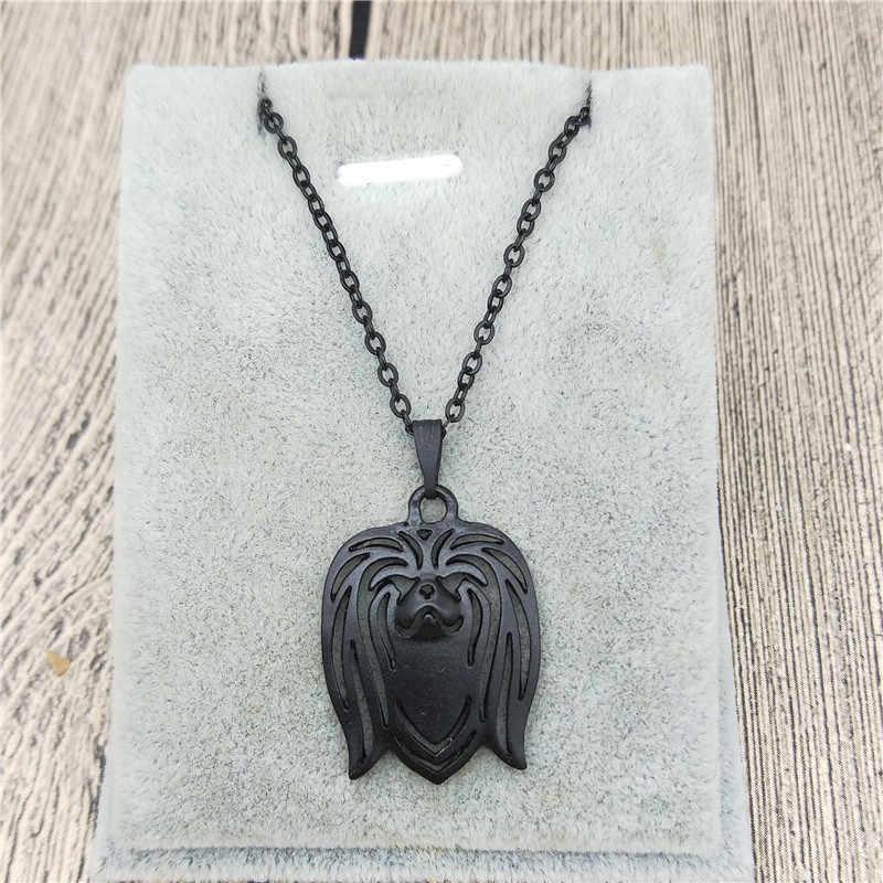 Unikatowe ręcznie robione Boho Chic pekińczyk wisiorek naszyjnik naszyjnik żeński i męski japoński podbródek biżuteria naszyjnik